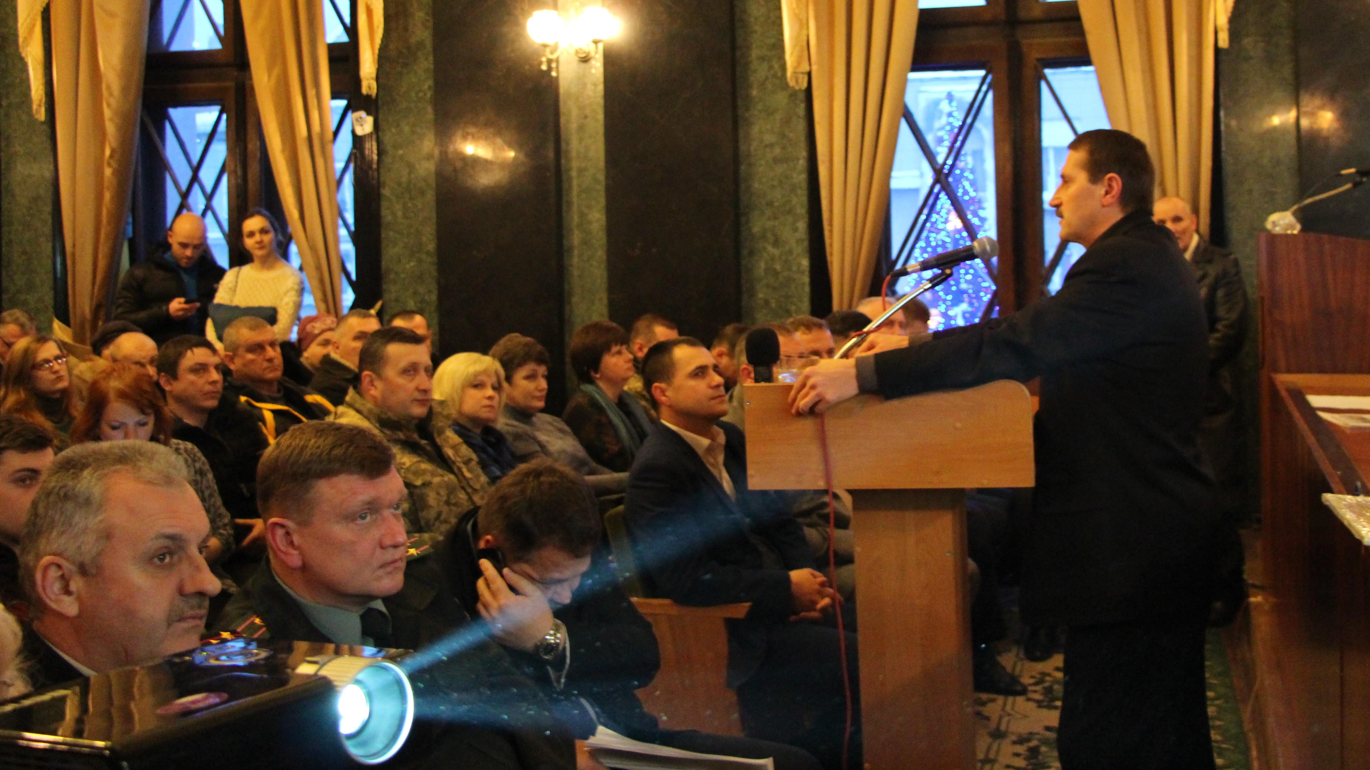 Міський голова Дрогобича Тарас Кучма прозвітував за свою діяльність у 2016 році