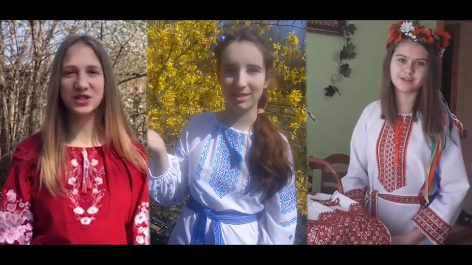 """Привітання з Великоднем від хору """"Мальви"""" Дрогобицької дитячої музичної школи №1"""