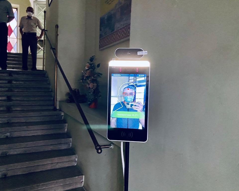 У Дрогобицькій ратуші встановили термальний сканер із функцією розпізнавання обличчя, фото-3