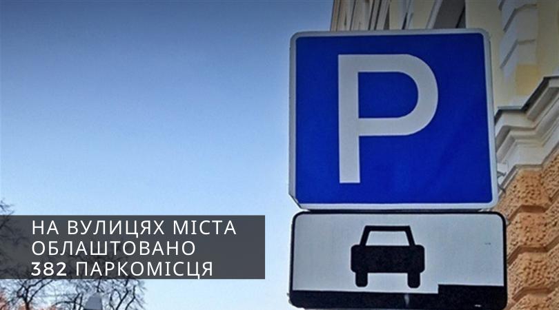 У Дрогобичі на вулицях міста облаштовано 382 паркомісця
