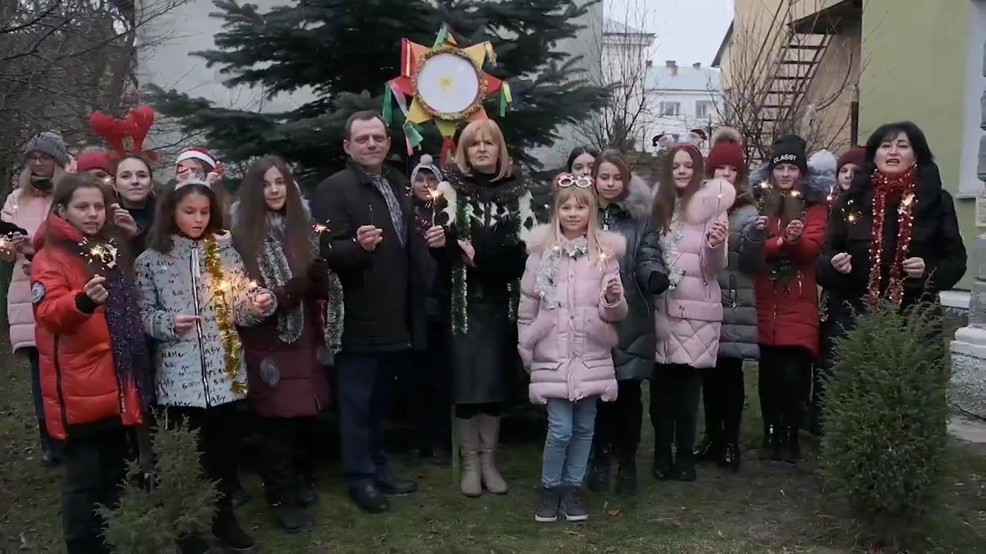 З Різдвом Христовим! Вітання Дрогобицької дитячої музичної школи №2 імені Р. Сороки